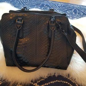 Liebeskind Black Snakeskin Embossed Handbag